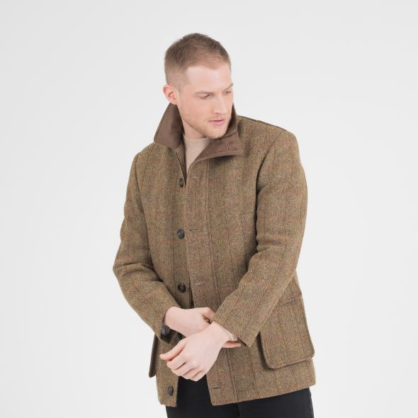 Men's Harris Tweed Boyd Jacket | Mustard Check