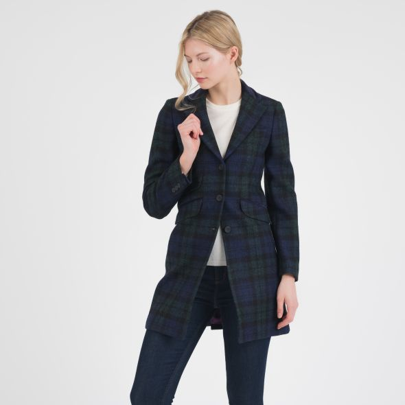 Women's Harris Tweed Tori Coat | Blackwatch
