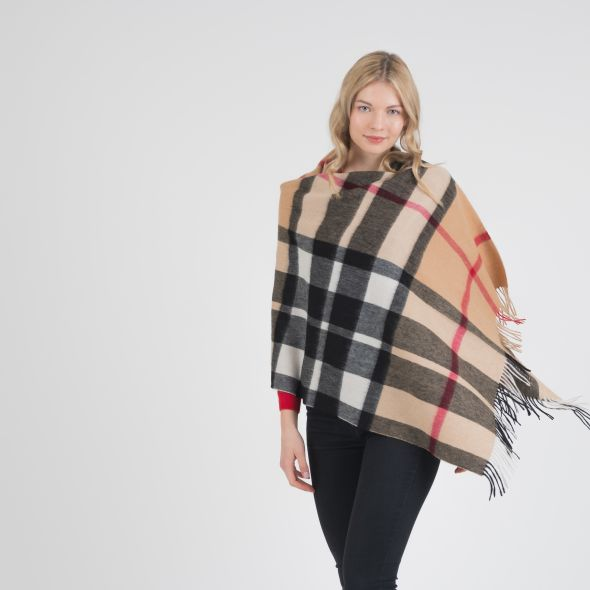 Lambswool Stole | Exploded Camel Thompson