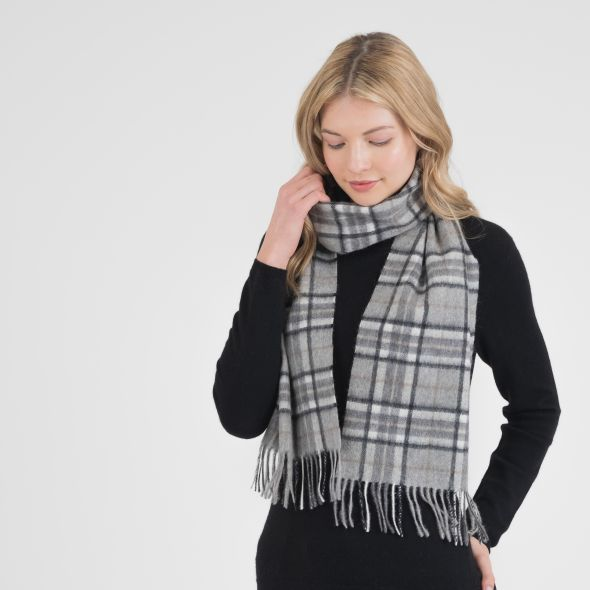 Cashmere Scarf | Pewter Scotty Thompson