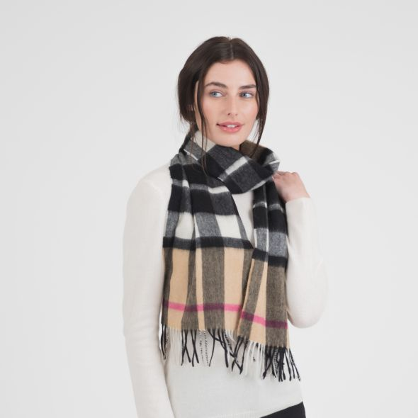Cashmere Scarf | Exploded Camel Thompson Pink