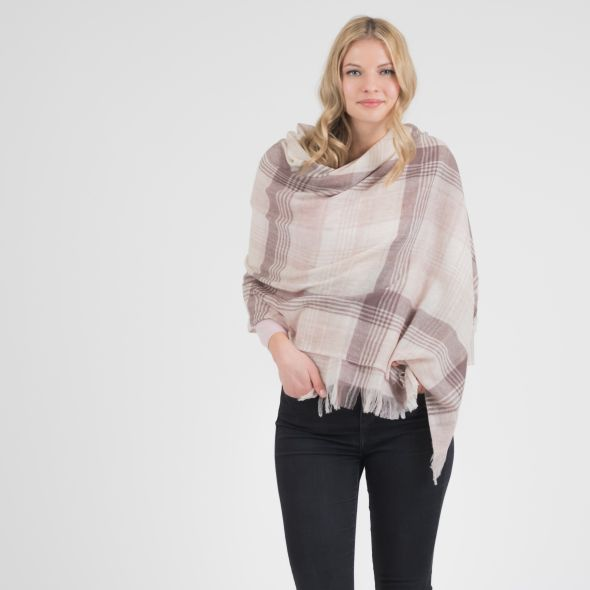 Cashmere Lightweight Stole | Natural Repeat Edge