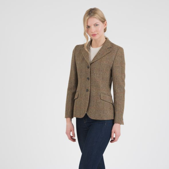 Women's Harris Tweed Claire Blazer | Mustard Check